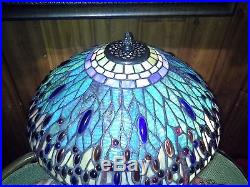 Tiffany Style Stained Glass Dragonfly Table Lamp Night Light Base