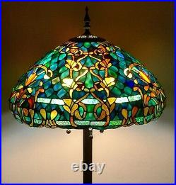 Tiffany Style Stained Glass Floor Lamp Azure Sea with 20 Shade FREE SHIP USA