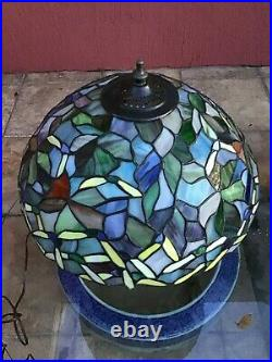 Tiffany Style Stained Glass Multi-Color Table Desk Lamp 20 Tall