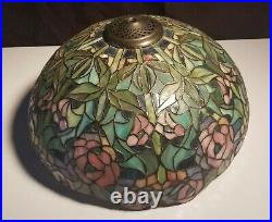 Tiffany Style Stained Glass Shade Table Lamp chandelier Handcrafted Vintage 16