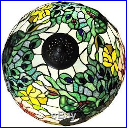 Tiffany Style Stained Glass Table Lamp Art Deco Peacock Nightlight Victorian NEW