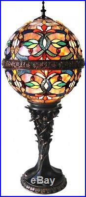 Tiffany Style Stained Glass Table Lamp Desk Art Deco Mission Boho NEW Victorian