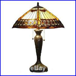 Tiffany Style Stained Glass Table Lamp Reading Accent Desk Lamp Handcrafted