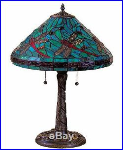 Tiffany Style Stained Glass Turquoise Table Lamp 16 Shade New