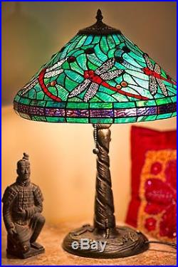 Tiffany Style Stained Glass Turquoise Table Lamp 16 Shade New BUY 2 GET 10% OFF