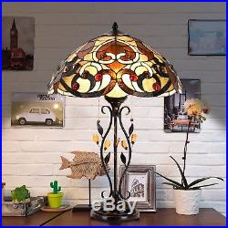Tiffany Style Swirling Shells Table Desk Lamp Baroque Stained Glass Home Decor