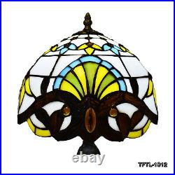 Tiffany Style Table Lamp Handcrafted Bedroom Living room Stained Glass Art Lamps