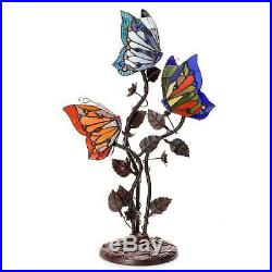 Tiffany Style Table Lamp Stained Glass Butterfly Mission Craftsman Victorian