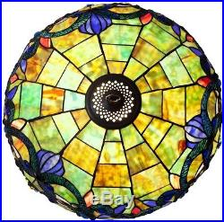 Tiffany Style Table Lamp Stained Glass Desk Art Deco Mission Craftsman Victorian