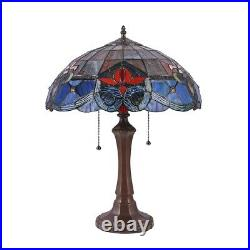 Tiffany Style Victorian Stained Glass Table Lamp 22 Bronze Finish Base 16 Shade