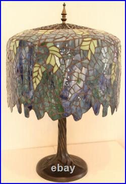 Tiffany Style Wisteria Table Lamp 22 Shade