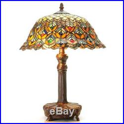 Tiffany-style Peacock Jewel Table Lamp ID 3067352