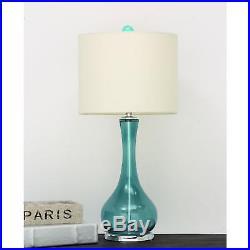 Urban Designs Mykonos Blue Glass Table Lamp (Set of 2)