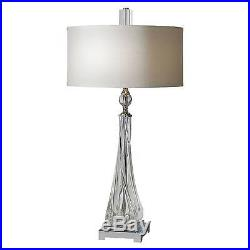Uttermost Grancona Twisted Glass Table Lamp Clear