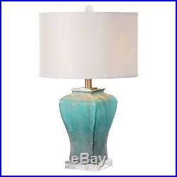 Valtorta Blue-Green Glass Table Lamp