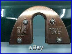 Verdelite, Emeralite Antique Partners Bankers Lamp, Green Shades, Craftsman
