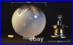 Vintage 1960s Italian Period Murano spherical space age table lamp by Mazzega
