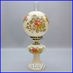 Vintage 22 Table Lamp Rose Glass Globe Gone With the Wind GWTW Hurricane Light