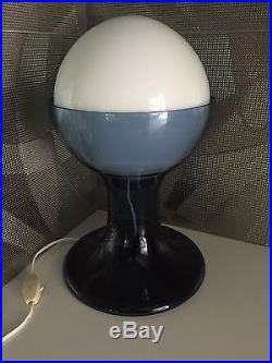 Vintage 70's Large Mazzega Mid Century Modern Table Lamp Glass Murano Italian