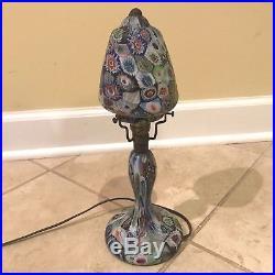 Vintage Art Deco Millefiori Glass Table Lamp
