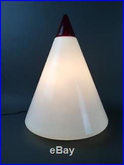 Vintage Italian Post Modern TOSO for LEUCOS T46 Large Glass Table Lamp