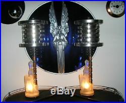Vintage Jadeite Glass Art Deco Lamps withDesigner Fabric Shades-Best Lamps on eBay