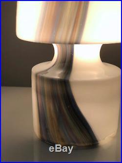 Vintage Mid Century Modern Laurel Glass Mushroom Table Lamp Murano Italian
