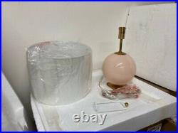 Visual Comfort Elsie Table Lamp in Blush Painted Glass KS3014BLS
