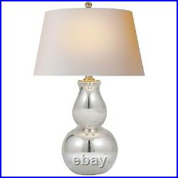 Visual Comfort Open Bottom Gourd Table Lamp in Mercury Glass SL3811MG
