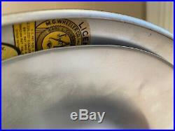 Vtg Black M. G. Wheeler Co SightLight Flying Saucer Table Lamp Mid-Century Modern