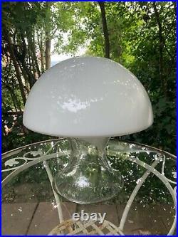 Vtg Gino Vistosi Murano Glass Mushroom LampMid Century Modern table lamp 1960