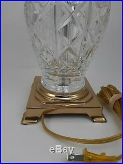 WATERFORD CRYSTAL TABLE LAMP 20.5 etched with the Waterford mark EXCELLENT