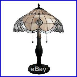 Warehouse of Tiffany Pearl White Baroque Table Lamp