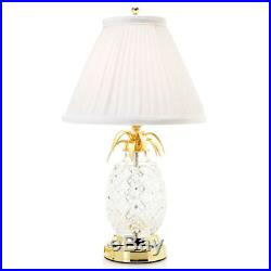 Waterford Crystal Hospitality 18 Pineapple Table Lamp with Pleated Shade